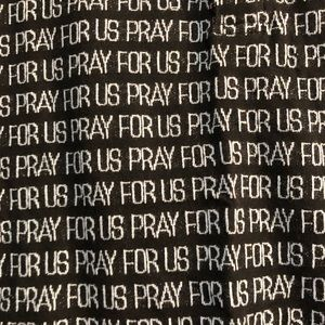 Supreme Shirts - SUPREME PRAY FOR US POLO SHIRT BLACK